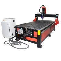 Cheap 4*8 Feet 4 Axis Wood CNC Router with Underneath Rotary Axis/Mach3 Control for sale