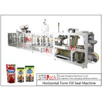 Cheap PLC Control Stand Up Pouch Filling And Sealing Machine For ketchup / Sauce 120BPM for sale