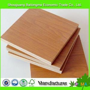Cheap wood grain mdf melamine laminate board for sale