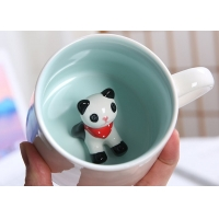 Cheap 3D Creative Animal 13.5x8.5x8cm Personalised Ceramic Mugs for sale