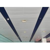 Cheap Artistic Eco-friendly Indoor Decoration Aluminum Suspended Strip Ceiling Panel Beveled Edge wholesale
