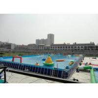 China Big Water Park Rectangle Above Ground Metal Frame Paddling Pool 12 x 39 on sale