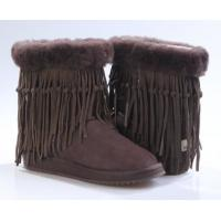 China Chocolate 5835 uggfullboots , authentic sheepskin lady boots, winter boots with fringe, fashion shoes for winter on sale