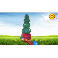Cheap Commercial Grade Giant Nice Printing Inflatable Christmas Tree , OEM Holiday Inflatables for sale