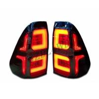 Cheap 2019 Toyota Hilux Revo Rocco LED Smoked Black Tail Lights Hilux Accessories for sale