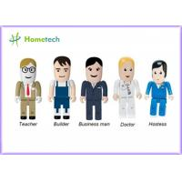 Cheap Portable Character USB Drives Doctor With Durable Solid State Storage , Doctor / Nurse Model wholesale
