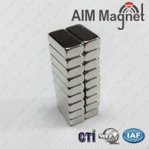 China Block 3x2X10 mm N52 GOLD neodymium magnet on sale