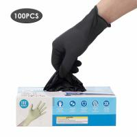 Cheap Latex Free Disposable Medical Gloves Anti Allergic High Wear Resistant Black Color for sale