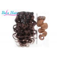 Cheap Clip In Body Wave / Straight Unprocessed Brazilian Human Hair For Black Women for sale