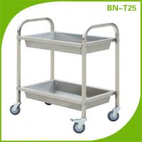 Cheap Stainless steel serving cart, moving plate trolley From China for sale