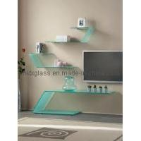 Cheap Wall Tempered Glass TV Shelf (TGS-079) for sale