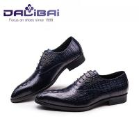 Cheap crocodile luxury genuine leather men shoes  for wedding or office wholesale