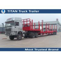 Cheap 2 Axles 3 Axles drop deck forestry semi Logging Trailer truck / timber trailer for sale
