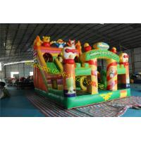 Cheap crazy penguins bouncy castle slide inflatable for sale