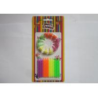 Cheap Colorful Fluorescent Candles Spiral Shaped Anniversary Office Party Decorations for sale
