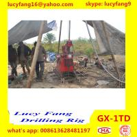 China Cheapest GX-1TD Portable Skid Mounted Geotechnical Drilling Rig With SPT Equipment
