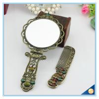 China Circular Castle Design Foldable Handle Mirrors of Dressing Table Vintage Handle Mirrors on sale