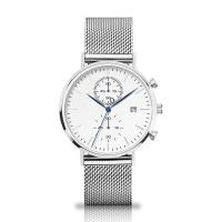 Cheap Quartz Chronograph Silver Stainless Steel Watch With Interchangeable Mesh Band for sale