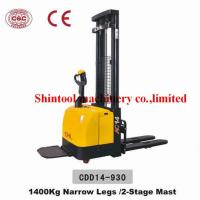 Cheap 1400kg Electric Pallet Stacker 600mm Load Center With 1325mm Wheel Base for sale