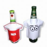 Cheap Bottle Coolers in T-shirt Design, Made of PVC, Non-toxic, Portable, Reusable and Easy to Use for sale