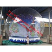 Cheap christmas photo snow globe outdoor snow globe inflatable decorations for sale