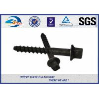 Cheap Black ISO Screws For Railway Sleepers / Zinc Dacromet Screw On Spikes for sale