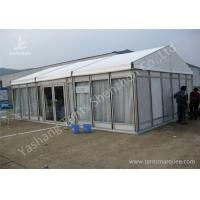 Cheap White Lining Decorated Special Event Tents / Transparent Glass Wall Tents For Outdoor Events for sale