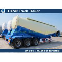 Cheap Carbon steel Durable Bulk Cement Power Trailer 40Ton and 35CBM , Silo Trailer for sale