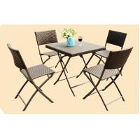 Cheap Leisure Wicker Rattan Chairs with Aluminum Frame , Folding Dining Room Chairs for sale