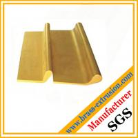 China Copper alloy extruded brass profile for door hinges brass hpb58-3, hpb59-2, C38500 OEM ODM brass extrusion factory on sale