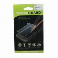 Cheap Screen Protector for Samsung/HTC/Mobile Phone, Anti-scratch/-dirt and High Transparent for sale