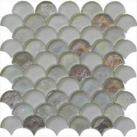 Cheap Silver sector series water waving glass mosaic wholesale