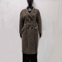 China 20 Polyester Yarn Dyed 880g Womens Wool Winter Coats on sale