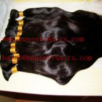 Cheap 100% Human hair bulk remy and non-remy color can be selected by your opinion for sale