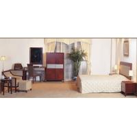 Cheap Hotel Standard room Furniture by Bedroom Sets wiht Cherry wood and Upholstered Headboard for sale