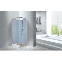 Cheap Fitness Halls 800 X 800 X 2250mm Glass Shower Stalls With Silver Aluminum Frame for sale