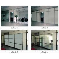 PDLC smart glass, switchable smart glass, sanded white laminated glass, tempered glass lamination