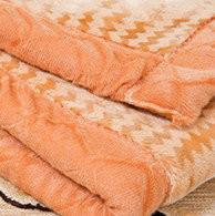 Cheap Comfortable Orange Woven Acrylic Mink Blanket Long Fibre For Airplane for sale