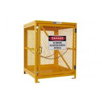 Cheap Yellow Gas Cylinder Storage Cages Used For Gas Tank And Cylinder Locker for sale