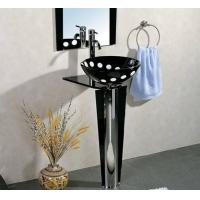 Cheap Round Wash Basin Sink Vanity with Tabe Rack Sheft for sale