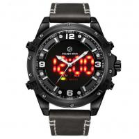 30 Meters Water Resistant LCD Digital Analog watches dual time zone watches For Men
