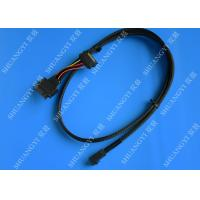 Cheap SFF 8639 To SFF 8643 Serial Attached SCSI Cable , Black SAS 68 Pin SCSI Cable for sale