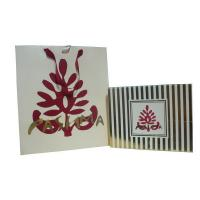 Cheap OEM Pashma 210g Art Paper Shopping Bag With Matt Lamination, Logo Stamp for sale