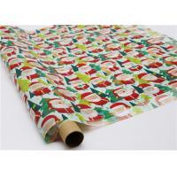 Cheap Gifts Paper Printed Decorative Wax Paper Santa Claus Pattern One Side Coating for sale