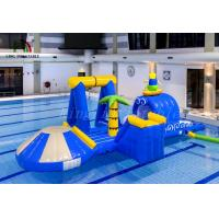 Cheap Blue / Yellow Surfing Boy Inflatable Water Parks Durable PVC Multipurpose Course for sale