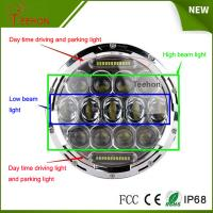 Cheap 7 Inch 75w LED Car Headlight DRL 12v 24v Driving Light for Jeep Hummer Camaro Fj for sale