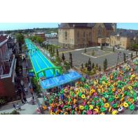 Cheap 300 Meters Long Air Sealed Giant Inflatable Water Slide For A Family Fun Day for sale