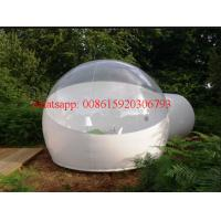 Cheap Half Clear Inflatable transparent plastic Bubble Tent Outdoor Inflatabe, bubble tree tent for sale