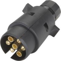 Cheap Black Color Trailer Electrical Plug European Type 12v N Type 7 Pin With Nut for sale