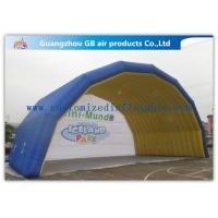 Cheap Blue Arch Tent Hand Printing Inflatable Air Tent Dome Inflatable Stage for Event for sale